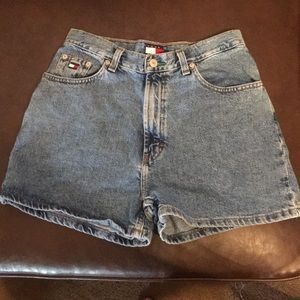 Tommy Hilfiger semi high waisted shorts.